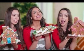 GINGERBREAD HOUSE CHALLENGE ft. The Merrell Twins!
