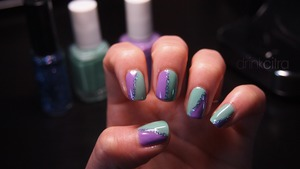 Essie's Play Date, Turquoise and Caicos and Color Club Art Club in Mermaid.