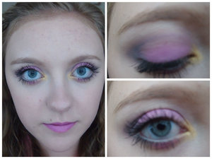 This was a pink, grey, and gold look that I did a while back.