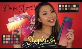 Real Talk Review and Swatch DUPE ALERT! SHOPHUSH EYESHADOW PALETTES