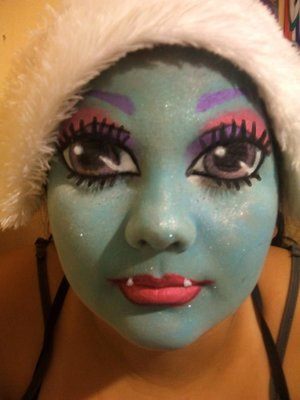 A Monster High look I did on my neice