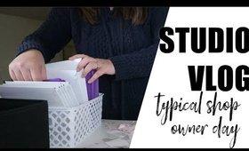 Studio Vlog 5: Typical Sticker shop owner day | Grace Go