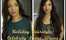 Holiday Hairstyle: Celebrity Loose Waves feat. ghd pink cherry blossom styler