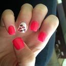 cheetah & pink acrylics!