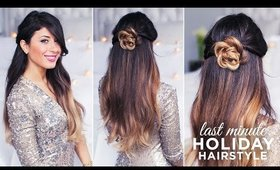 Cute and Easy Last Minute Holiday Hairstyle