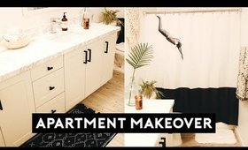 APARTMENT MAKEOVER! BATHROOM DECOR + ORGANIZATION | Nastazsa