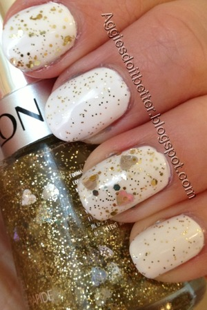 With revlon gold hearts glitter