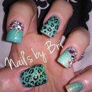 Shot Acrylic Nails