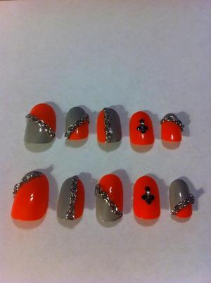 My newest nail art design! Before being applied to my bitties of course. :) Hope yall enjoy!