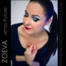 Violet eye makeup look by Zoeva cosmetics