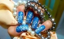 Blue, Ocean Corals Nail Art Design Tutorial - ♥ MyDesigns4You ♥
