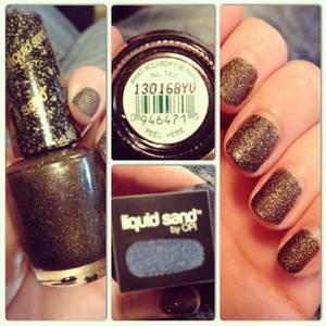 """OPI's """"What Wizardry is This?"""" From the """"Oz the Great and Powerful"""" collection.  Use a base coat first and follow with two coats of color. No top coat! Looks glossy, but dries matte, with a grainy texture."""