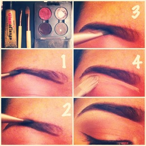 What you need:  -Blonde(two shades darker then hair) Brunette or Black (two shades lighter then hair) I just use an eyeshadow by Mac called espresso. -Concealer  -Brow wax (optional) -Angled brush -Spooly -Concealer brush or a brush that's able to give precise lines.  ALWAYS START OFF WITH A CLEAN GROOMED BROW!! Your life will be easier :)  What to do:  1. Comb brow with Spooly. 2. Apply brow wax all over the brow to hold the brow hairs down. (Optional) 3. Take your angled brush and dab it lightly in  your color. Then line the lower part of your eyebrow. (Follow natural brow line) 4. Repeat #3 but line the top part of your brow.  5. Lightly fill in the brow. Blend Those harsh lines you have created.(Remember its like an ombré effect. The inner brow is lighter then the arch or outer brow.) 6. Take your concealer brush or brush you find comfortable to get the job done and dab it into a flesh tone concealer.  7. Clean around the brow. Basically just lining right under where you created those lines. Almost like your lining your brows.  8. YOUR DONE! the concealer really makes a big difference btw. Enjoy and follow me on IG: @salomevakauta :)