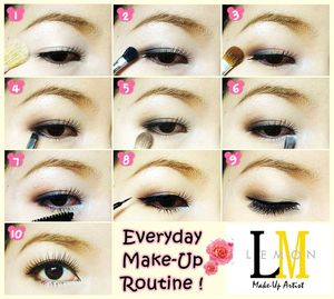 Everyday Make-Up Routine with earth tone . This make up style can make your eyes look sweet.