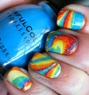 Rainbow Water Marble http://summerella31.blogspot.com/2013/03/raibow-water-marble.html#