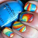Rainbow Water Marble