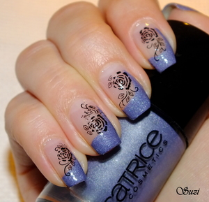 Catrice Ultimate Nail Lacquer, 420 Dirty Berry+water stickers