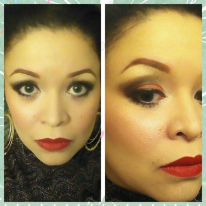 1st of many holiday parties :) Products used: MUFE HD, E.L.F. Revlon's Really Red Lipstick