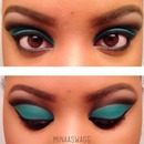 Teal Floating Crease | Inspired by Maya Mia