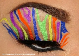 inspired by a rainbow zebra balloon!