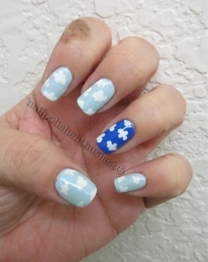 Hard Candy Sky, and Sally Hansen Xtreme Pacific Blue