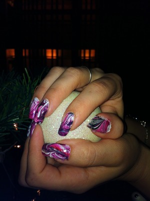 Marble Nail Design by Behnoush