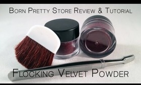 Born Pretty Store Review & Tutorial ::  Flocking Velvet Powder Manicure