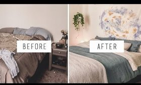 Organize with ME - MINIMAL bedroom MAKEOVER + redecorating TIPS  | ANN LE