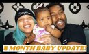 8 Month Baby Update   What she eats in a day, how to soften baby stool
