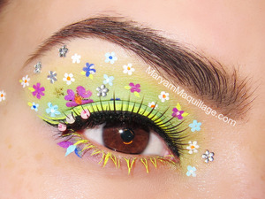 Details on my blog: http://www.maryammaquillage.com/2013/03/fantasy-florals-eye-makeup-art.html