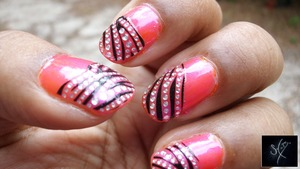 Savvy: Orange Overload Savvy: Party Pink Nail Bliss Bling Nail Applique: Wild Rhapsody