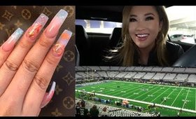 NEW LV NAILS - BUG PROBLEMS - MY FIRST COWBOYS GAME OF THE SEASON | hollyannaeree