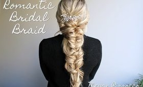 Romantic Bridal Fishtail Braid Hairstyle