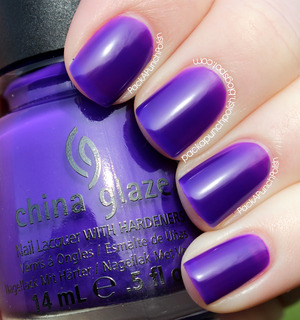 Creative Fantasy is a super bright purple and it's a jelly polish. It's part of the Cirque du Soleil: Worlds Away Collection. This is 2 coats without top coat.