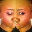 Black and Rose Gold Smokey Eye