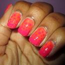 Dots Gradient Nails