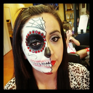 day of the dead on one of my clients!