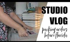 Studio Vlog 2: Packing Orders before Florida | Grace Go