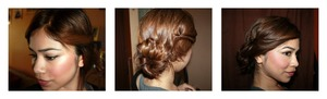 loose braid bun