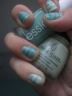 newspaper nails - inspired by cute polish on youtube