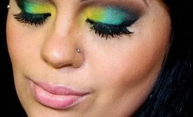 St. Patrick's Day Inspired Makeup Tutorial Fun Bright Makeup look