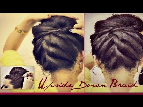 Korean Bun Upside Down Braided French Rope Braid Bun