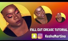 Semi-Cut Crease Fall Makeup