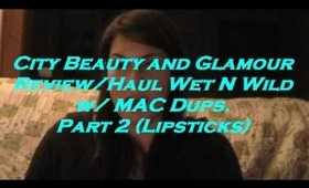 Wet N Wild / MAC Dupes. w/ ColorIcon Spring 2011 Collection Part 2