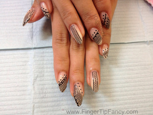 FOR DETAILS GO TO:   http://fingertipfancy.com/black-lace-nude-nails