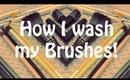 How I Wash my Brushes!