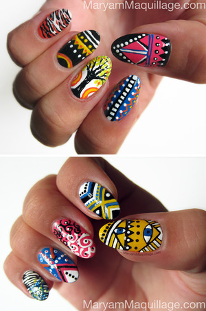 hand-painted, never stamped :)) All info: http://www.maryammaquillage.com/2012/09/showcase-miniature-nail-artworks.html