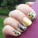 yellow nail art