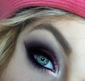 Heeeeere we go!  I have been teasing you guys for a few days on this one, very different look for me.  Usually I go for bright and shimmery colors, but today I unleashed my inner darkness and used a contrast between 3 colors; purple, blue, purple/blue!  Def a great Valentine's Day smokey for those with brown to hazel green eyes.  For full details check out my blog :): http://theyeballqueen.blogspot.com/2016/02/purple-fury-smokey-eye-valentines-day.html