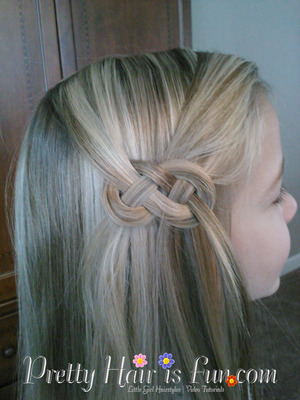 how to do an infinity knot or braid on the side of the hair
